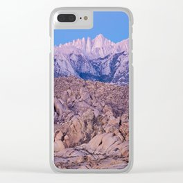 Mount Whitney /view from Movie Flats, Lone Pine, CA. Clear iPhone Case