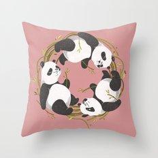 Panda dreams Throw Pillow