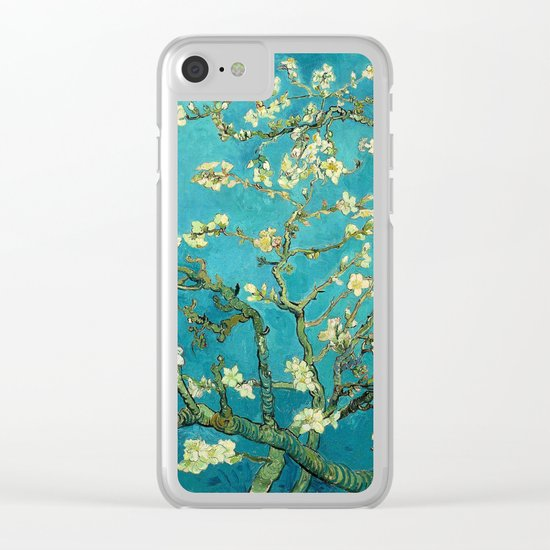 Vincent Van Gogh Blossoming Almond Tree Clear iPhone Case