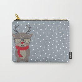 Merry Christmas Deer Carry-All Pouch