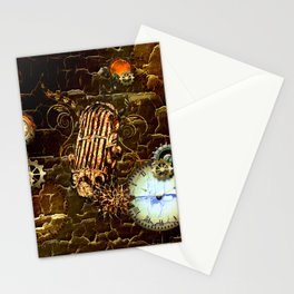 Steampunk, micropphone Stationery Cards