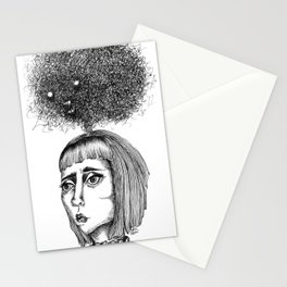 Nightmares that haunt - coracrow Stationery Cards
