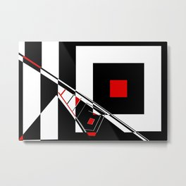 Black and white meets red version 29 Metal Print