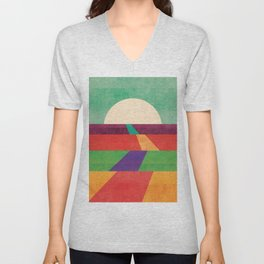 The path leads to forever Unisex V-Neck