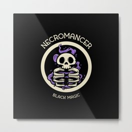 Necromancer Black Magic Design Metal Print