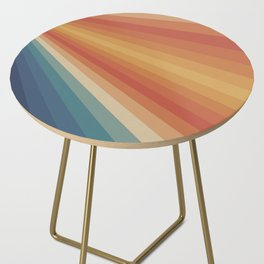 Retro 70s Sunrays Side Table