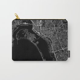 San Diego Black Map Carry-All Pouch