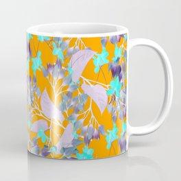 Floral Burst in Ochre Coffee Mug