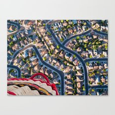Blissful Suburbia  Canvas Print