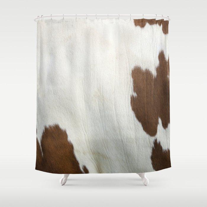 Cowhide V2 Shower Curtain By Gorillust
