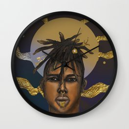 Afrocosmos II Wall Clock