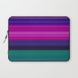 Vibrant Purple Pink and Green Stripes Laptop Sleeve