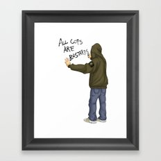 All Cops Are Bastard !!! Framed Art Print