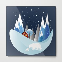 Snowing Bubble Metal Print