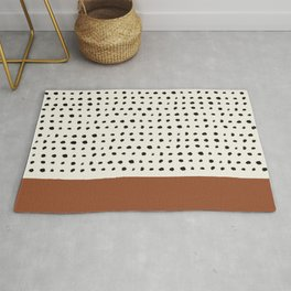 Burnt Orange x Dots Rug