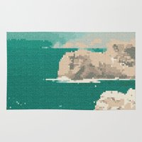 portugal Area & Throw Rugs featuring Portugal-Algarve, Cross Stitch by Mr and Mrs Quirynen