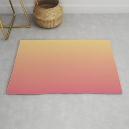 Summer Sunset Gradient Ombré Abstract Rug