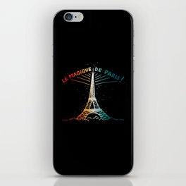 Le Magique De Paris (the magic of...) French Artwork, Eiffel Tower Print iPhone Skin