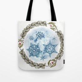 Christmas Celtic Knot Australian Gumnut Mandala Watercolor Pencil Painting Tote Bag