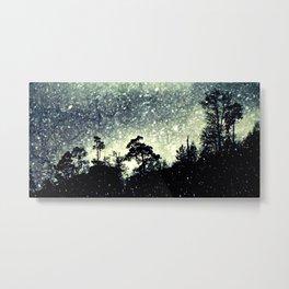 Wintery mystical landscape Metal Print