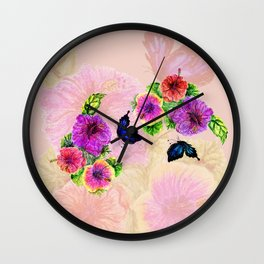 Painting of hibiscus Wall Clock