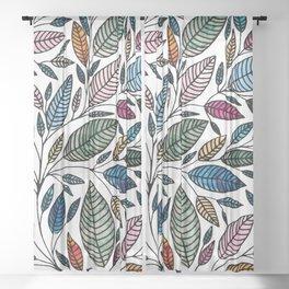 Watercolor Leaf Illustration BP0732 Sheer Curtain