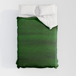 Emerald Green and Black Abstract Comforters