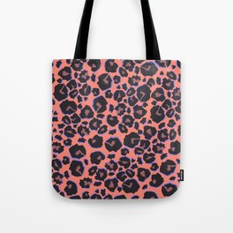 leopard pattern in neon color Tote Bag