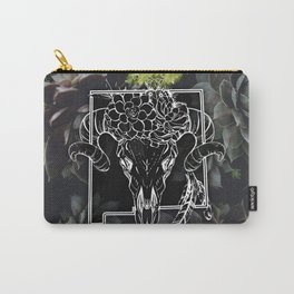Skull and Succulants Carry-All Pouch
