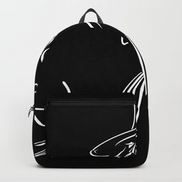 Abstract retro portrait of man Backpack