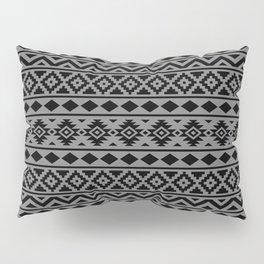 Aztec Essence Ptn III Black on Grey Pillow Sham