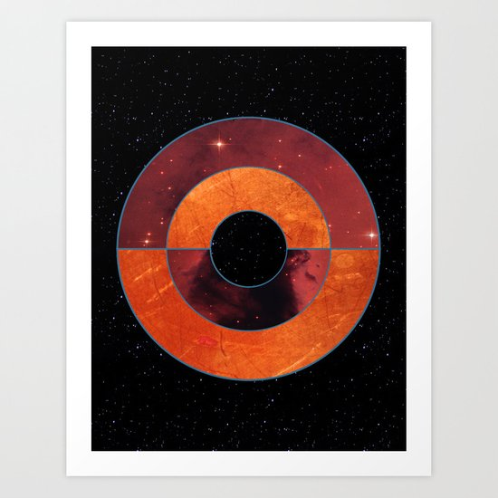 Abstract #204 The Black Hole Art Print
