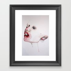 She lives with the rice Framed Art Print