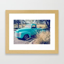 Chevy Truck by the Road Framed Art Print