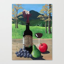 Life Is Wine Canvas Print