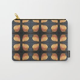 Leaf Pattern with Nailheads Carry-All Pouch