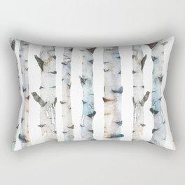 Birch Tree forest Rectangular Pillow