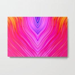 stripes wave pattern 3 sm60i Metal Print
