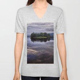 Lake of Two Rivers Unisex V-Neck