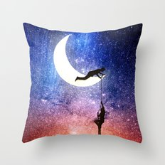 Come stargazing with me Throw Pillow