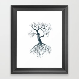 Tree without leaves Framed Art Print