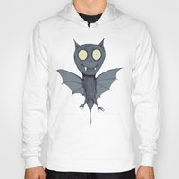 bat Hoodies featuring Bat by Bwiselizzy