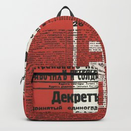 Russia, URSS Vintage Poster, Lenin, Newspaper Backpack