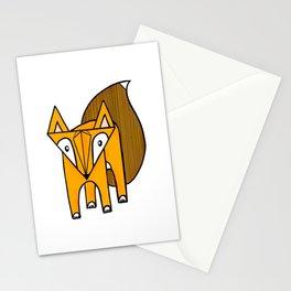 Geo Fox Stationery Cards