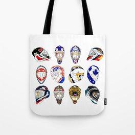 12 Masks Tote Bag