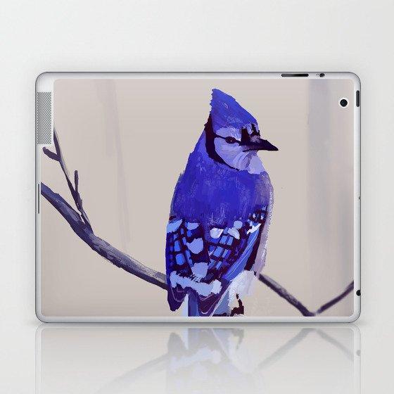 Blue Jay Bird Laptop & iPad Skin