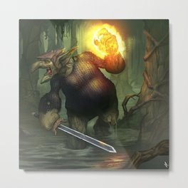 Troll Shadow Knight Metal Print