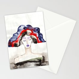 Margot With a Purple Lipstick Stationery Cards