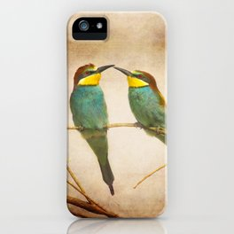 Love time. Bee-eaters iPhone Case
