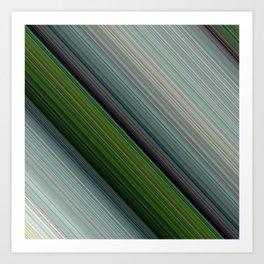 Decorative Colorful Green Blue Lines Design Art Print